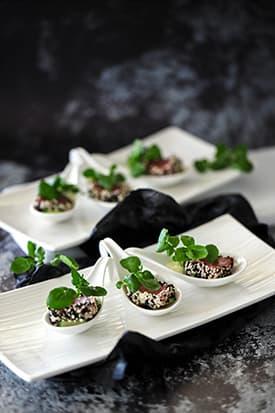 Black Sesame Ahi Tuna, Cucumber & Wasabi Mayonnaise