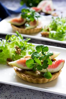 Gorgonzola Tart, Figs and Walnut Salad