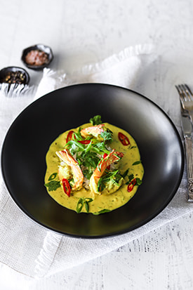 Prawns, Spiced Turmeric Coconut Cream & Rice