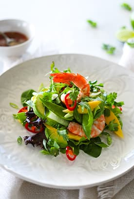 Summer Prawn Salad with Nuoc Nam Cham Dressing