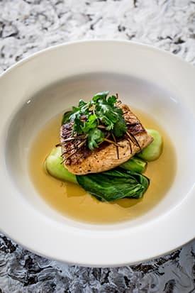Salmon with Ginger and Lemongrass Broth