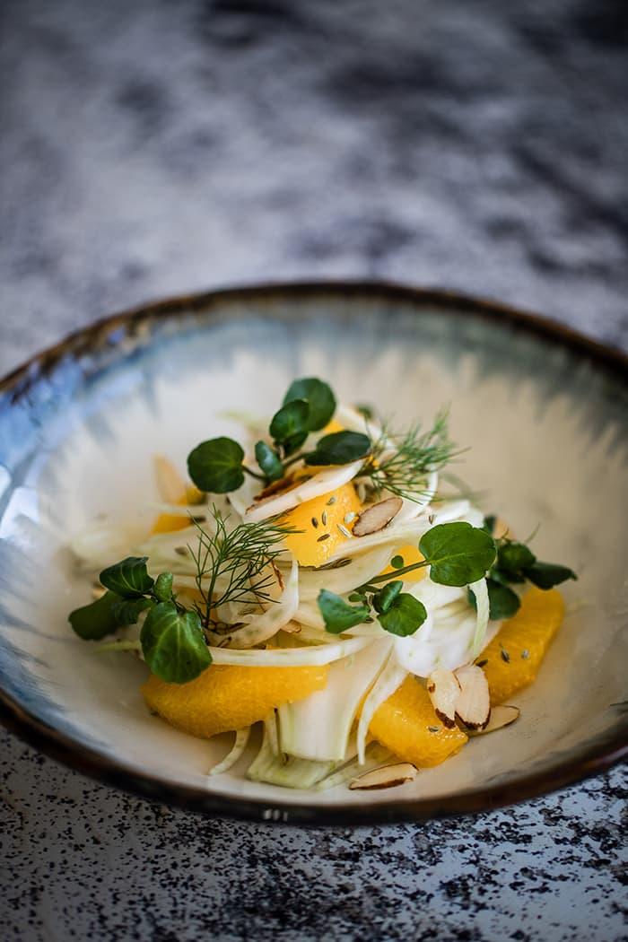 Fennel & Orange Salad, Watercress & Shaved Almonds