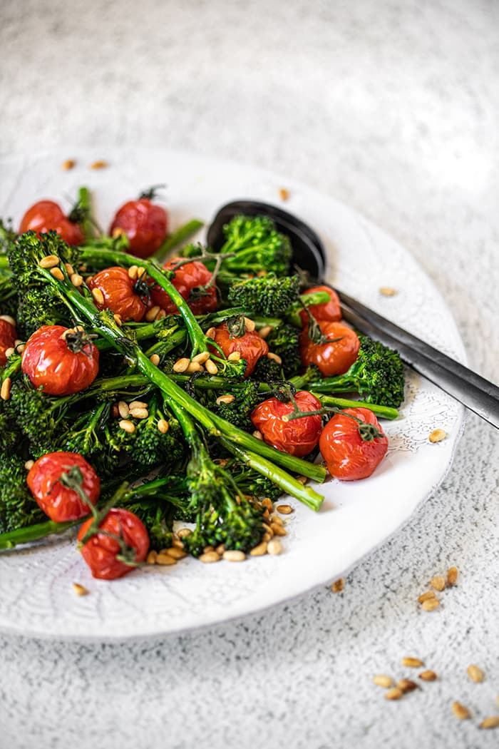 Roasted Broccolini, Cherry Vine Tomatoes & Toasted Pine Nuts
