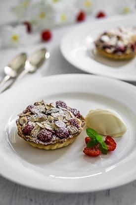 Cherry & Raspberry Frangipani Tart