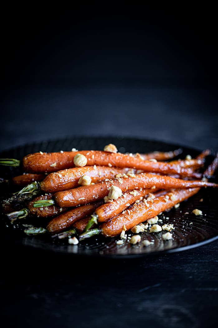 Honey Roasted Dutch Baby Carrots & Hazelnuts