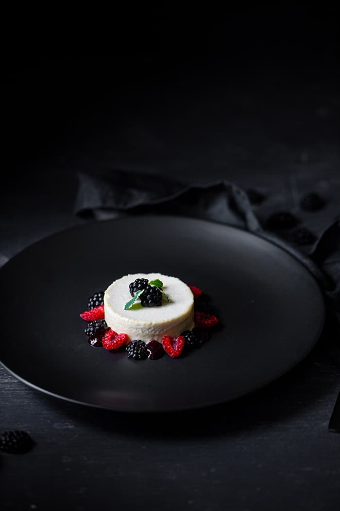 Vanilla Parfait & Blackberries