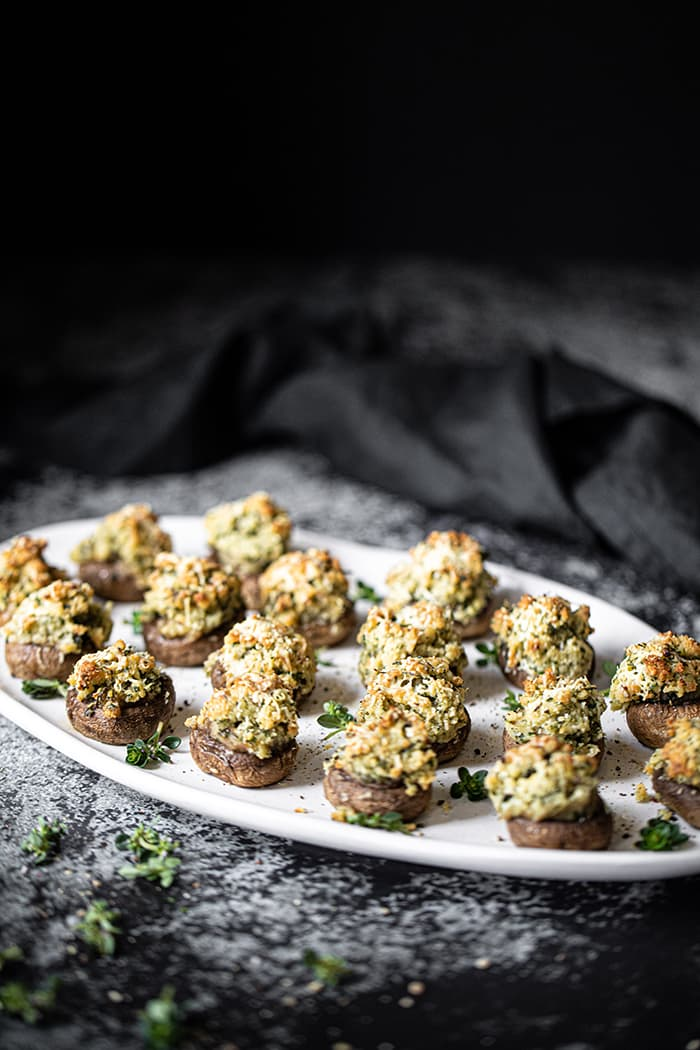 Baked Mushrooms, Garlic & Thyme